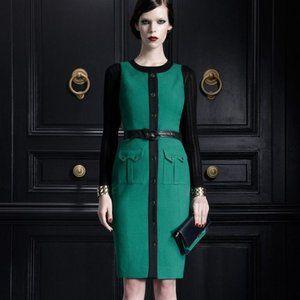 Jason Wu Green Black Sheath Shirt Dress 4